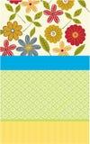 Carte de fleur d'occasion spéciale Photo libre de droits