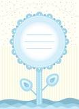 Carte de fleur de fête de naissance pour le bébé garçon Photos libres de droits