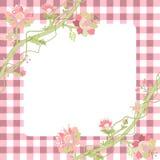 Carte de fleur de Vitage Photo libre de droits