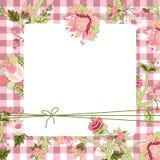 Carte de fleur de Vitage Photographie stock libre de droits