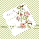Carte de fleur de Vitage Photos libres de droits
