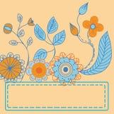 Carte de fleurs Images stock