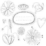 Carte de fleurs Image stock