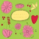 Carte de fleurs Photographie stock libre de droits