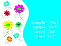 Carte de fleurs Photos libres de droits