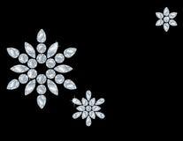Carte de flocon de neige de diamant Photo libre de droits