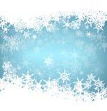 Carte de flocons de neige de Noël Image libre de droits