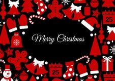 Carte de fond de Noël illustration de vecteur