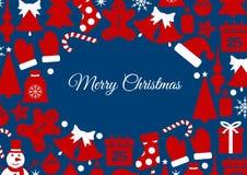 Carte de fond de Noël illustration libre de droits