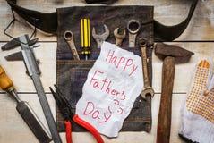 Carte de fête des pères Image stock