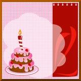 Carte de gâteau Photos libres de droits