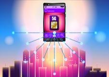 carte de 5G SIM illustration libre de droits