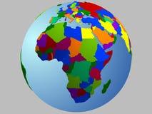 Carte de globe de l'Afrique Photo libre de droits