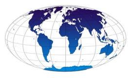 Carte de globe du monde Images libres de droits