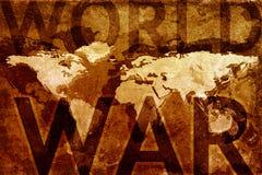 Carte de guerre mondiale Photographie stock libre de droits