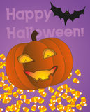 Carte de Halloween Images libres de droits