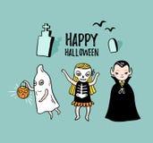 Carte de Halloween avec le lettrage élégant - 'Halloween heureux' illustration libre de droits