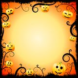 Carte de Halloween - cadre illustration stock
