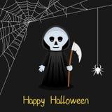 Carte de Halloween de toile de faucheuse et d'araignée Photos libres de droits
