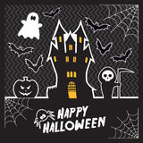 Carte de Halloween de vecteur Image stock