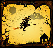 Carte de Halloween de vecteur Photos stock