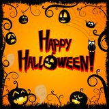 Carte de Halloween - Halloween heureux illustration libre de droits