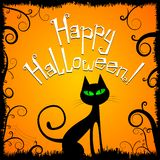 Carte de Halloween - Halloween heureux illustration stock