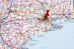 Carte de Houston Images libres de droits