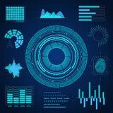 Carte de HUD Interface Futuristic Graphic Background Vecteur Images libres de droits