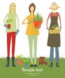 Carte de jardinier Photographie stock libre de droits