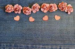 Carte de jeans d'amour Images stock