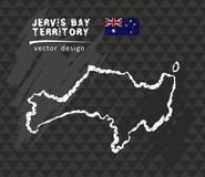 Carte de Jervis Bay Territory, illustration de vecteur de croquis de craie Illustration Stock