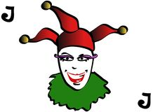 Carte de jeu de joker Photo libre de droits