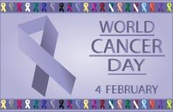Carte de jour de Cancer du monde Photographie stock libre de droits