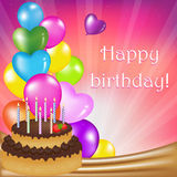 Carte de jour d'anniversaire illustration libre de droits