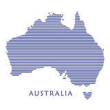 Carte de jour d'Australie illustration de vecteur