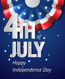 Carte de Jour de la Déclaration d'Indépendance des Etats-Unis Photos stock