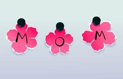 Carte de jour de mères Image libre de droits