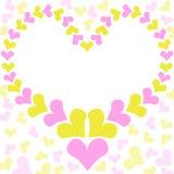 Carte de jour de mères de cadre de coeur Photo stock
