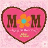 carte de jour de mères du type 70s Photos stock