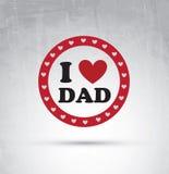 Carte de jour de pères Images libres de droits