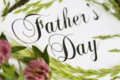 Carte de jour de pères Photos libres de droits