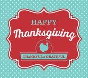Carte de jour de thanksgiving de vintage Image libre de droits