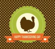 Carte de jour de thanksgiving de vintage Photo libre de droits