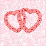 Carte de jour de Valentin avec le coeur Photos libres de droits