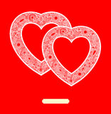 Carte de jour de Valentin avec le coeur Image libre de droits