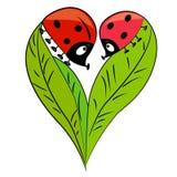 Carte de jour de Valentine. couples romantiques Image libre de droits