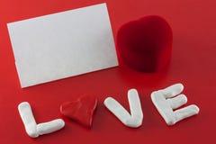Carte de jour de Valentines Images libres de droits