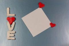 Carte de jour de Valentines Images stock