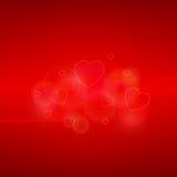 Carte de jour de Valentines avec des coeurs Images libres de droits